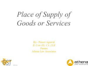 GST-Place of Supply
